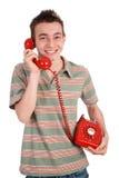 笑的电话 库存图片