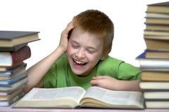 笑的男孩 免版税库存照片