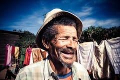 笑的老人 免版税库存照片