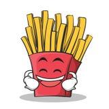 笑的面孔炸薯条漫画人物 免版税库存图片