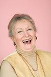 笑的高级妇女 图库摄影