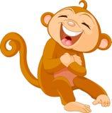 笑的猴子 免版税图库摄影