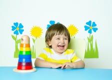 笑的婴孩 免版税库存照片