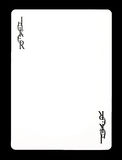 说笑话者无色的纸牌, 免版税图库摄影