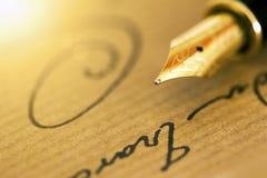 笔和署名 库存图片
