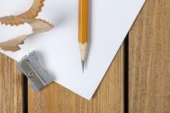 笔和铅笔刀 库存图片