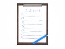 笔和附注。 免版税库存照片