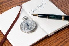 笔手表 免版税库存图片