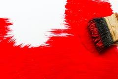 画笔查出的油漆白色 免版税库存图片