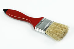 画笔油漆红色 图库摄影
