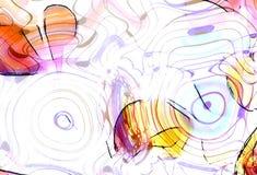 笔记和笔记的图形设计例证在圈子结构,音乐概念排行 射击效果 免版税库存照片