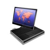 笔记本个人计算机片剂世界 图库摄影