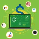笔记本企业技术 免版税图库摄影