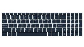 笔记本估计的键盘 免版税库存图片