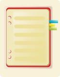 笔记本和书签 库存图片