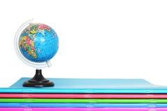笔记本和地球 免版税图库摄影