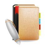 笔记本和笔企业对象传染媒介设计 免版税库存照片