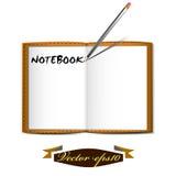 笔记本和笔 库存照片