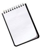 笔记本小的白色 免版税库存照片