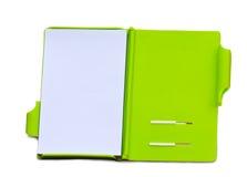 笔记本开放纸张 库存图片