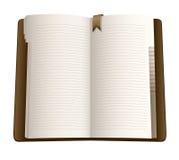 笔记本开放页 库存照片
