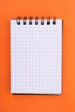 笔记本桔子 免版税图库摄影