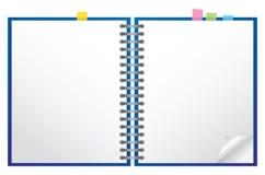 笔记本白色 免版税图库摄影