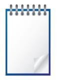 笔记本白色 免版税库存照片