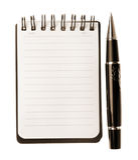 笔记本笔 免版税库存照片