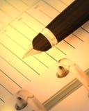 笔记本笔y 免版税库存照片