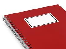 笔记本红色 库存图片