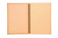 笔记本纸张回收 免版税库存图片