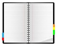 笔记本纸张 皇族释放例证