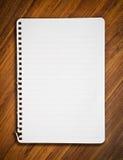 笔记本纸张 库存照片