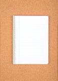 笔记本纸 免版税库存照片