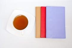 笔记本茶 库存图片