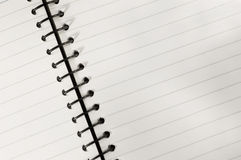 笔记本螺旋 库存图片