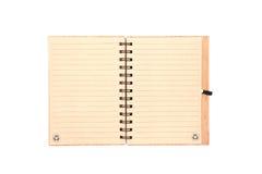 笔记本被回收的纸空白有白色背景 库存图片
