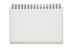 笔记本被开张的纸张 库存照片