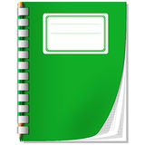 笔记本铅笔 免版税库存照片