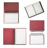 笔记本页红色唯一垂直的白色 库存图片