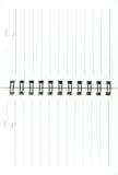笔记本页 免版税库存图片