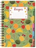 笔记本食谱 库存图片