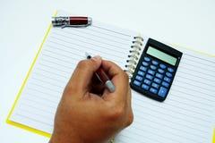 笔记本 免版税库存照片