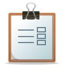 笔记板 免版税库存图片