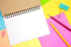 笔记薄空白的白页拷贝空间的 库存照片