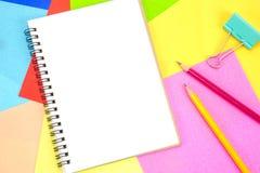 笔记薄空白的白页拷贝空间的 图库摄影