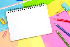 笔记薄空白的白页拷贝空间的 免版税库存照片