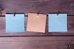 笔记,贴纸 免版税库存照片