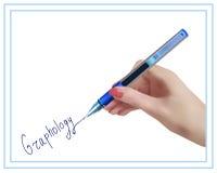 笔迹学 手写学习 向量例证